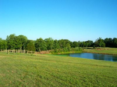 pond view of the golf course